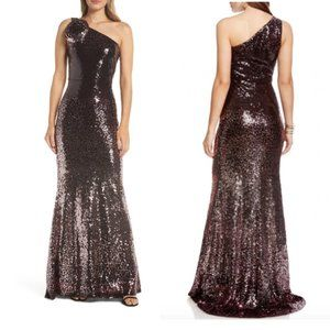 Vince Camuto Sequin One Shoulder Gown Size 6
